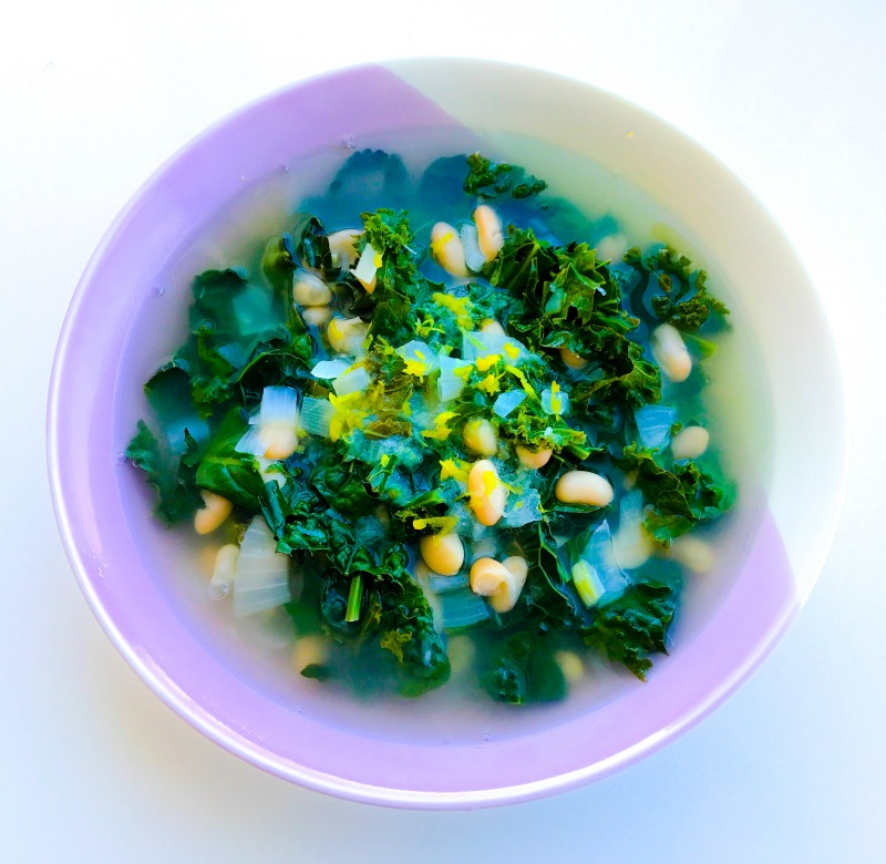 Lemony Kale & White Bean Soup