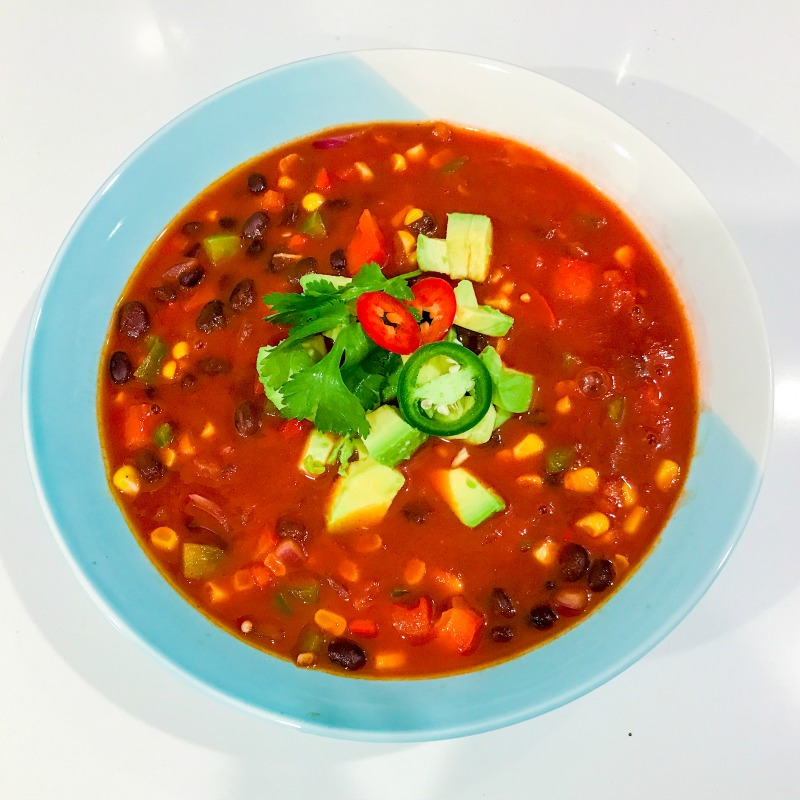 Mexican Lime & Black Bean Soup