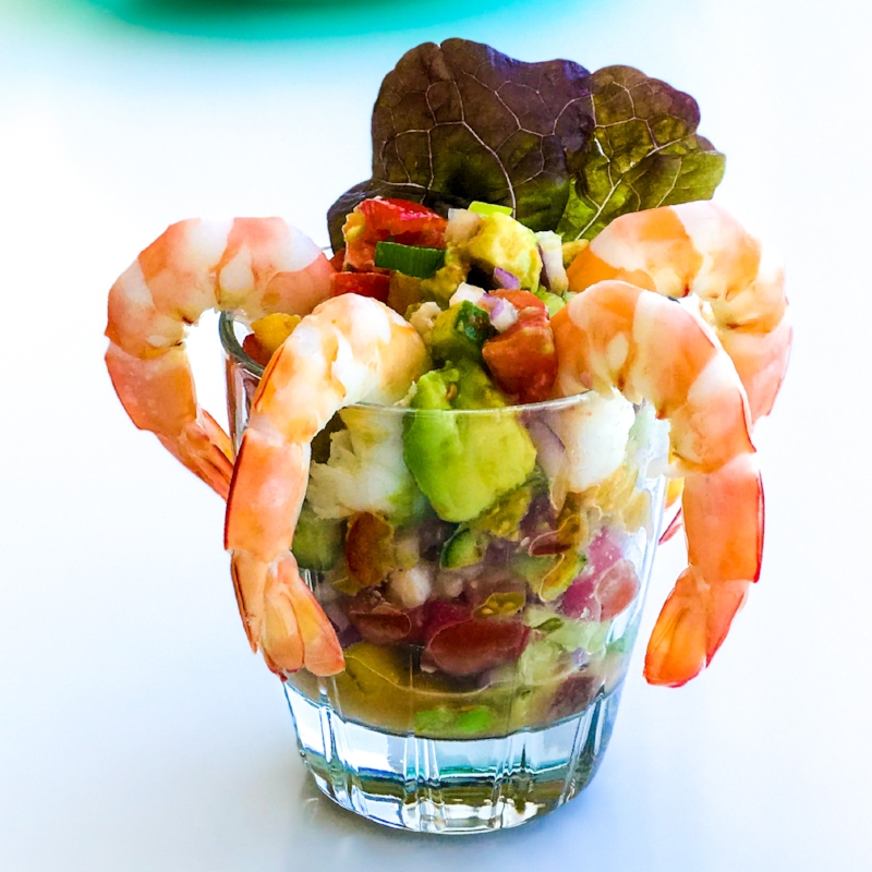 Spicy Mexican Prawn Cocktail
