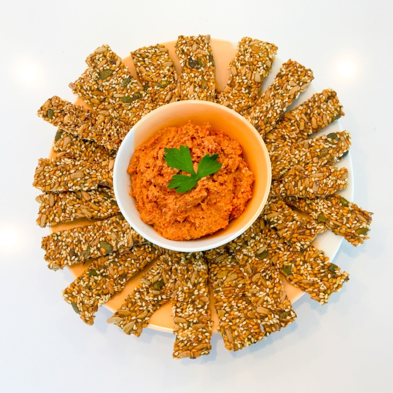 Red Capsicum (Bell Pepper) & Walnut Dip
