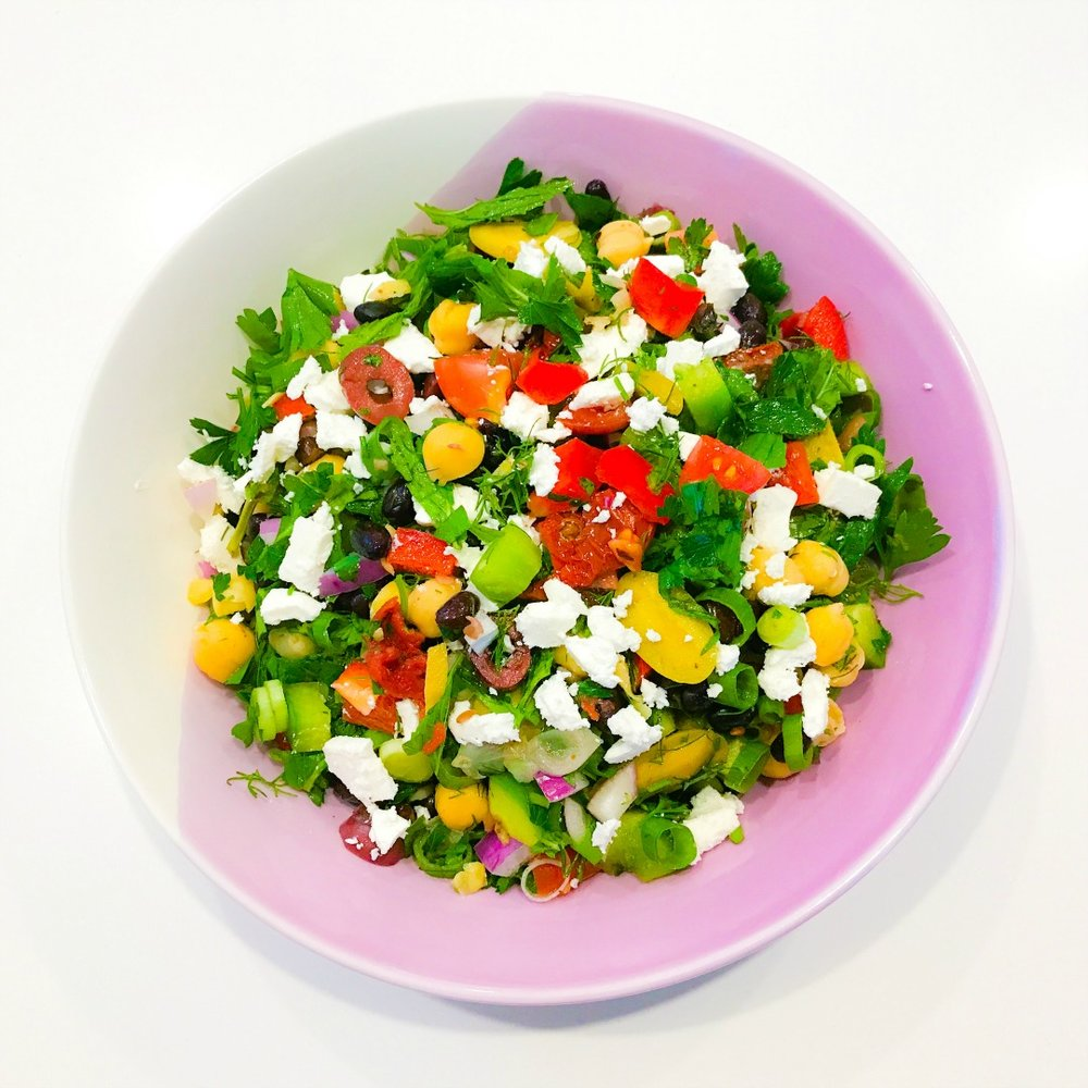 Beany Balela Salad with Feta
