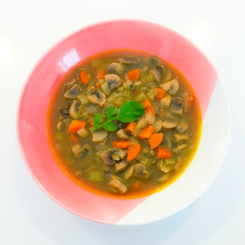 Simple Veg and Mushroom Soup