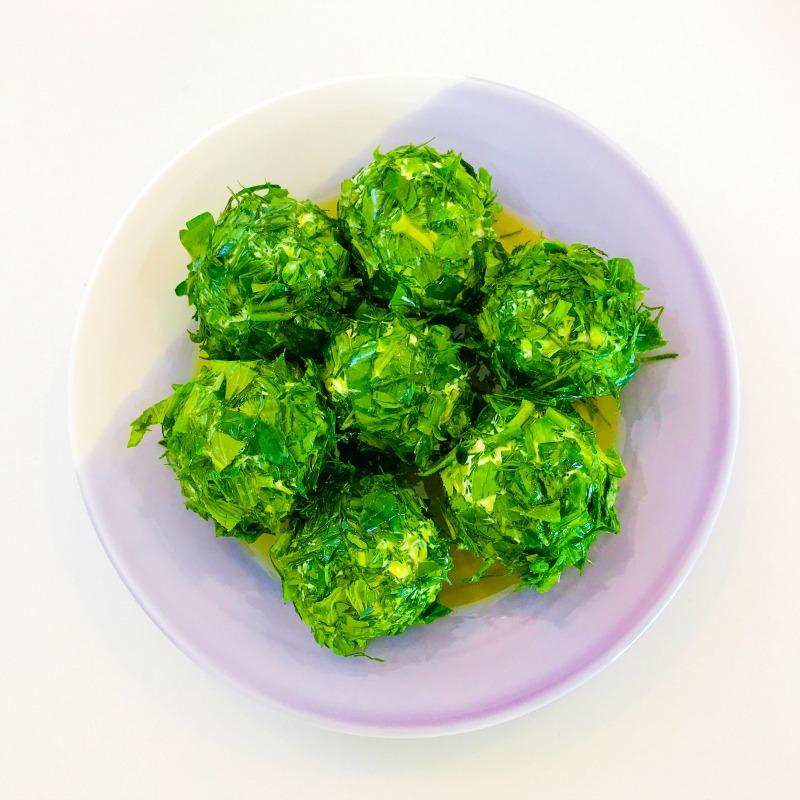 Herbed Labneh Balls