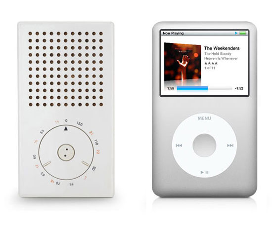 Braun's T3 Pocket Radio & Apple's iPod