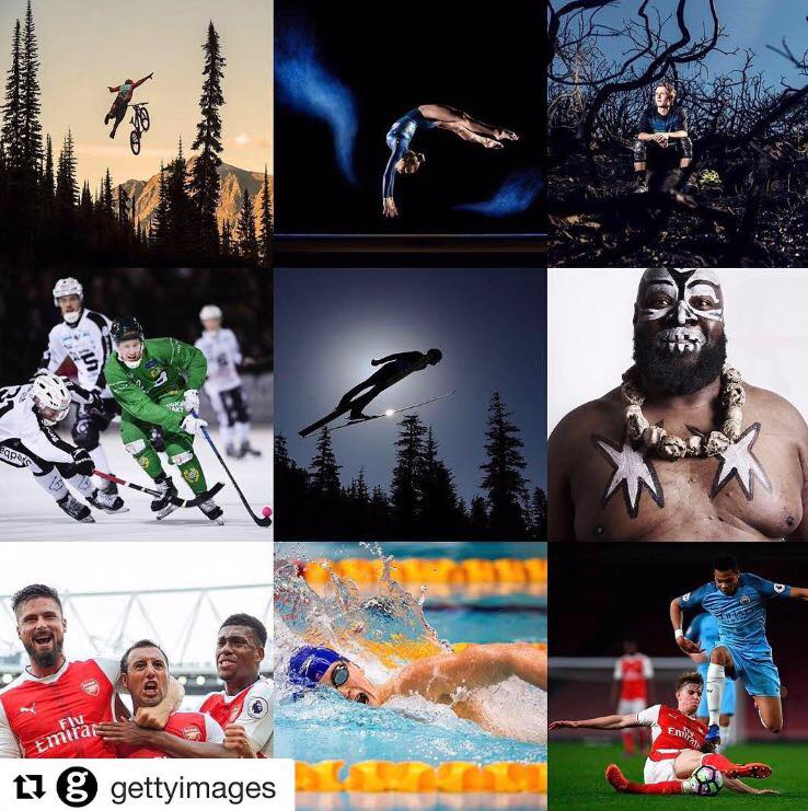 2017: Getty Images  Recognized by Getty Images as one of the top ten emerging female talent in the world of sports photography in 2017.