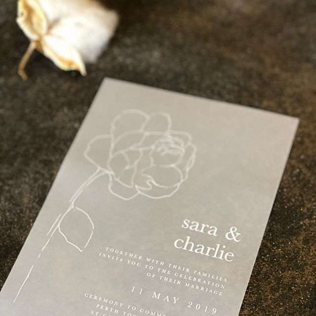 Sara & Charlie white ink on vellum with hand drawn illustration . . #paperfusiondesign #bride2018 #modernbride #paperfusionboutique  #graphicdesignperth #illustration #customdesigninvitation #wedding #perthbridetobe #vellum #weddinginvitationsperth  #whiteink #whiteinkinvitation