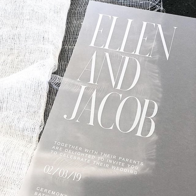White ink on vellum Ellen and Jacob.