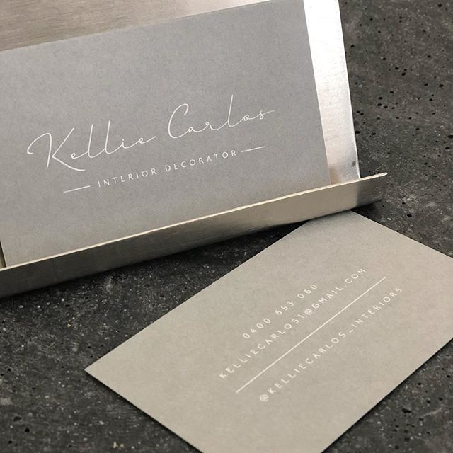 Brand design and business cards for @kelliecarlos_interiors