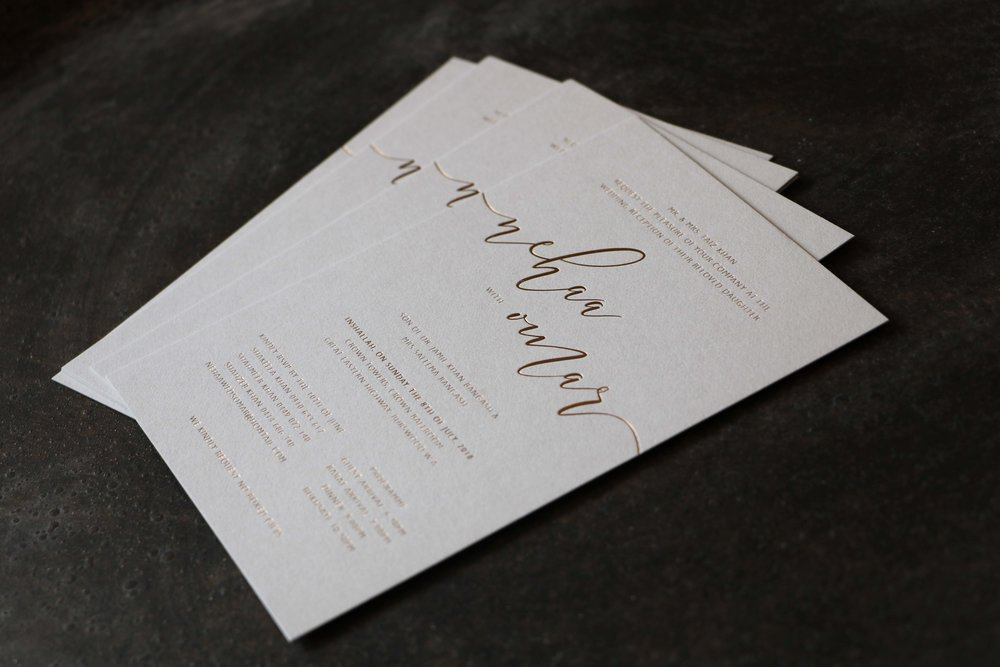 Photography Bianca Tuzee  Gold foil on the palest of grey's 600gsm