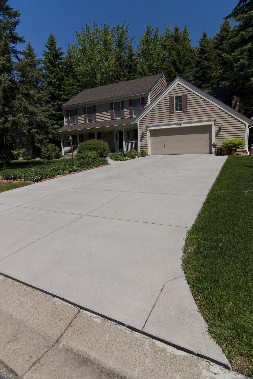 Concrete driveway, Woodbury, MN, M. F. Fleischhacker
