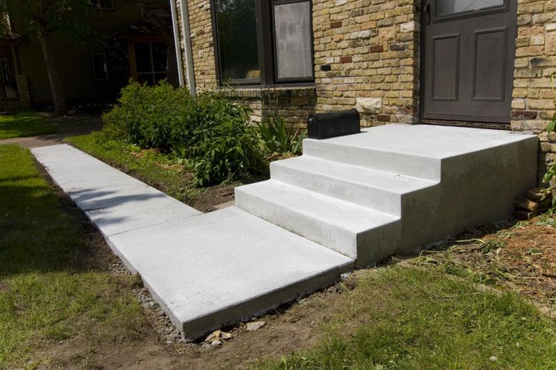 Concrete steps, sidewalk, Saint Paul, Woodbury, MN, M. F. Fleischhacker