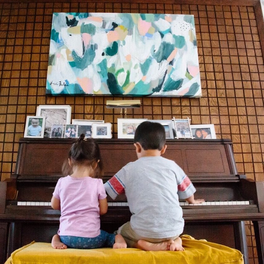 everyday august kids at piano