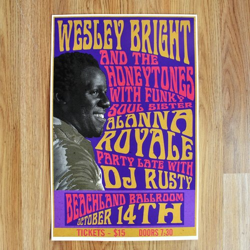 Beachland Ballroom October Th Concert Flyer  Wesley Bright  The