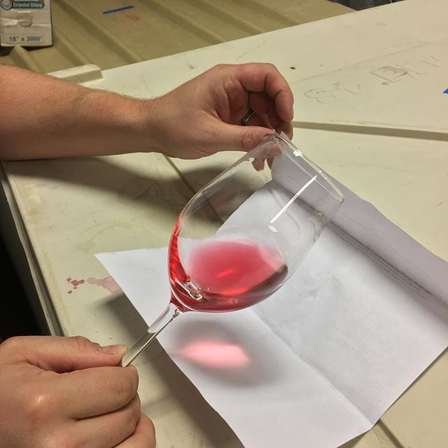 Check out that color! #roseallday #friyay #cellarwork #winemakingprocess