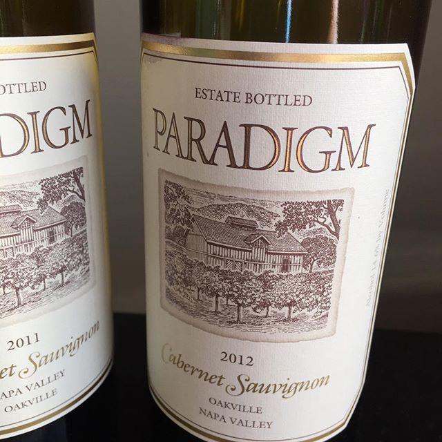 Paradigm ftw #winewednesdays #exploringwine #expandingyourpalate #napawine