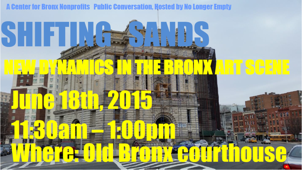 From Hostos Public Conversations event, 2015. Barretto Bay conceived and implemented the Public Conversations series on behalf of CUNY's flagship in the South Bronx.