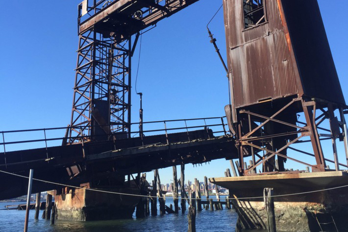 The old gantry at North Brother, the old cargo entrance to the island. It was built in 1885.Photo: Jen Kirby/New York Magazine