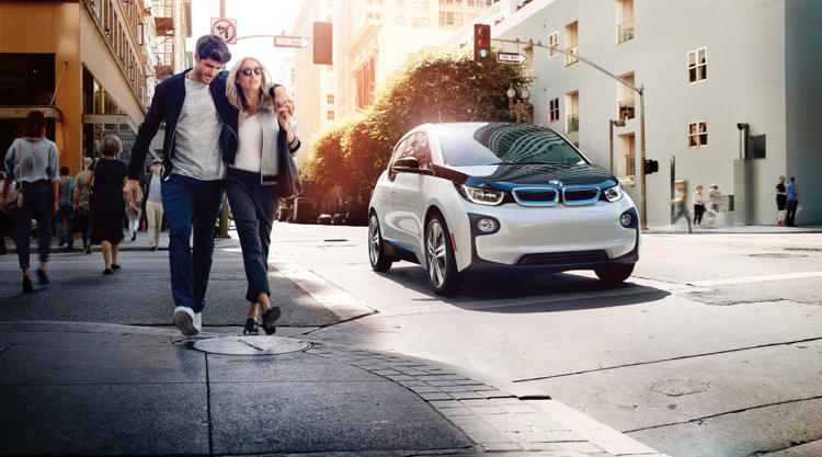 It includes four i3s. the car company's elegant new electric vehicle.
