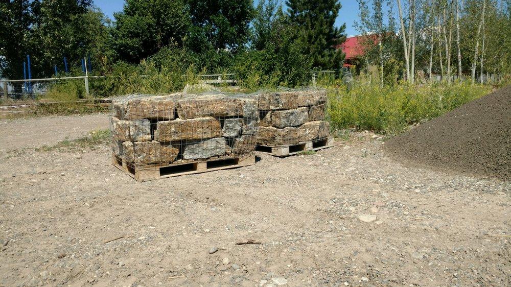 Palletized rock — Yellowstone Valley Rock Supply