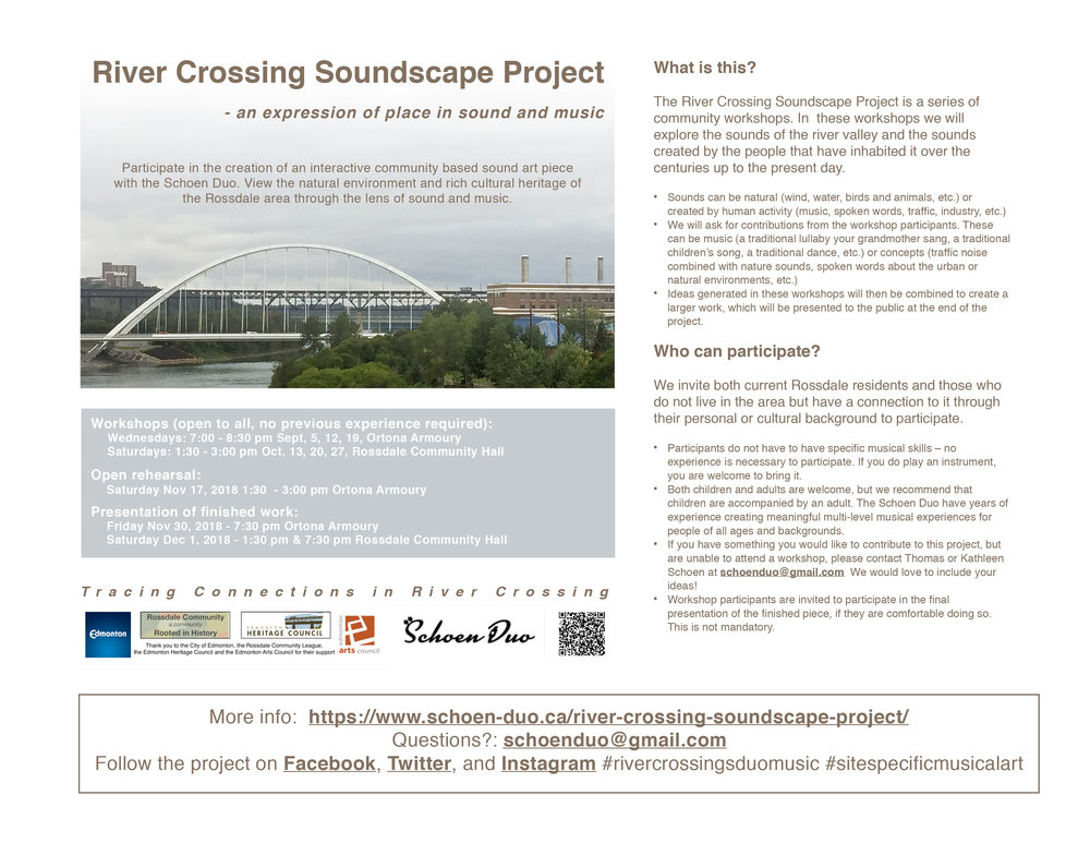 River Crossing Soundscape Project - Upcoming Workshops — Rossdale