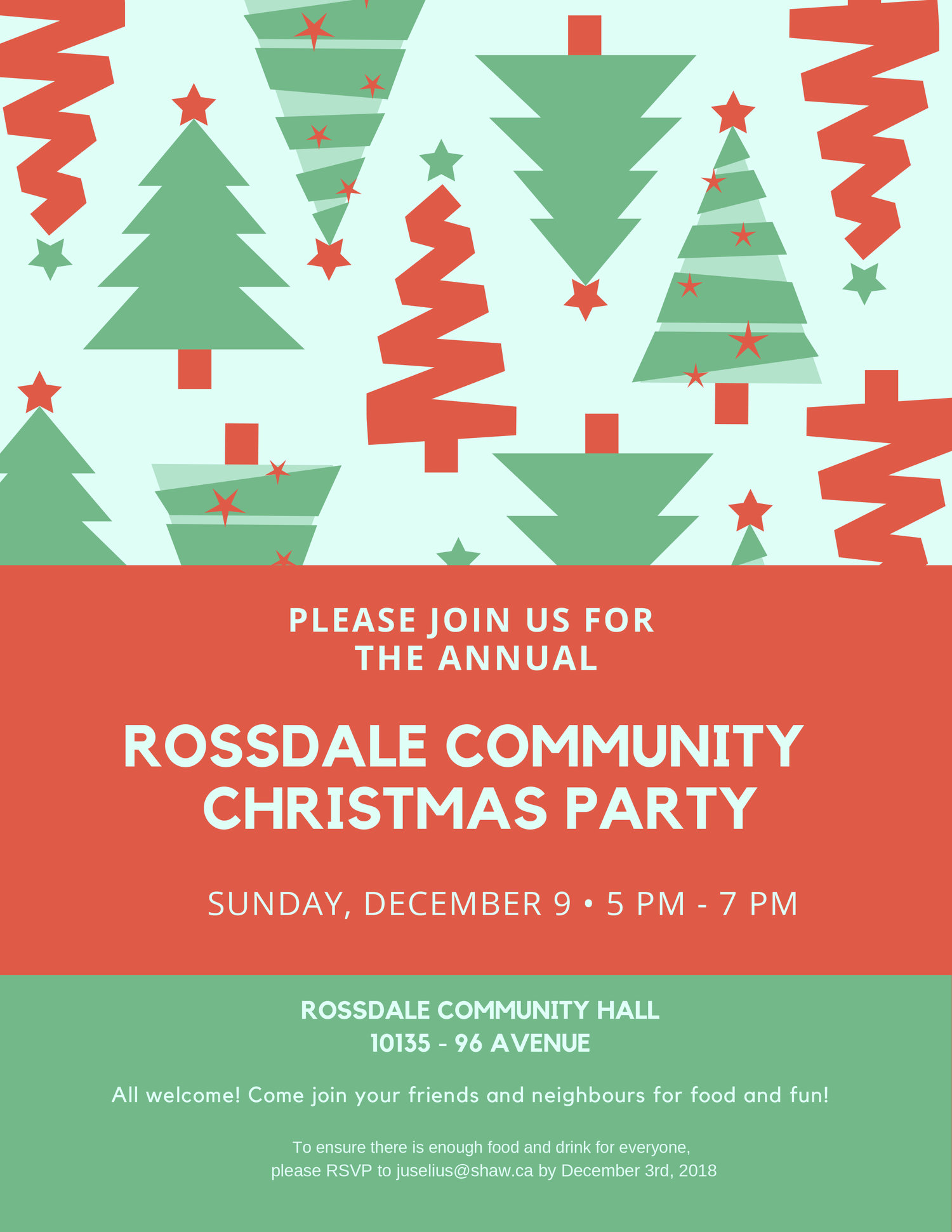 Christmas Date.Save The Date For The Annual Rossdale Christmas Party