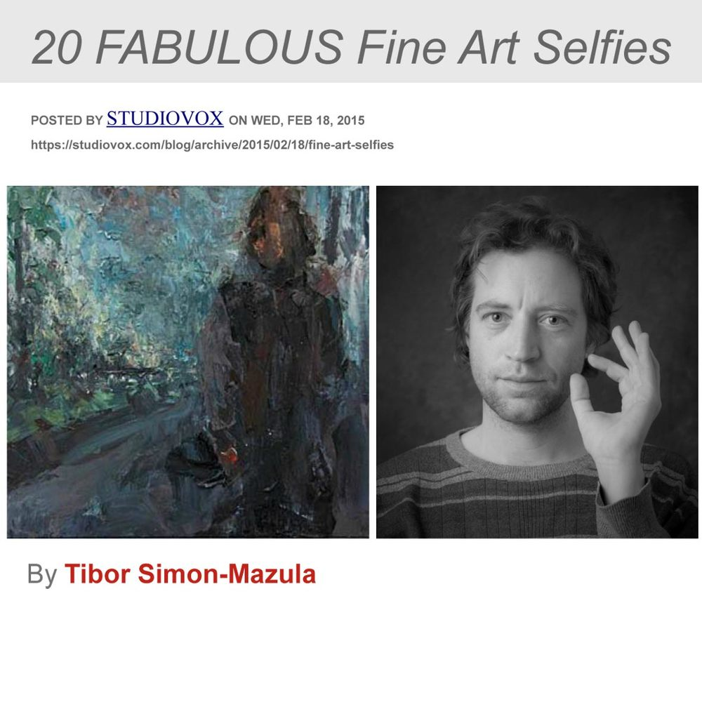 """20 FABULOUS Fine Art Selfies,"" STUDIOVOX .com, February 18, 2015, United States"