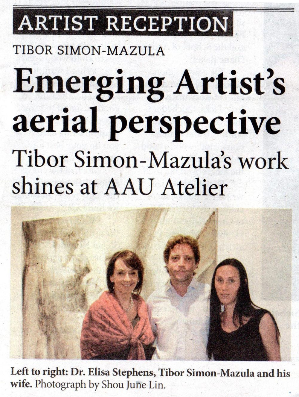 """Emerging Artist's aerial perspective"", Academy of Art University volume 2, October 2013, pp. 2, United States"