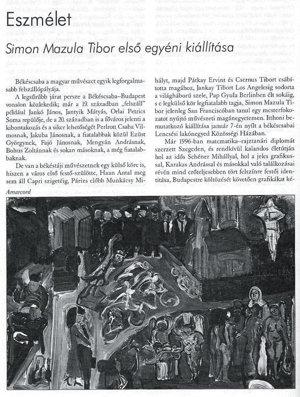 """Zoltán Banner, """"Eszmélet / Consciousness,"""" Bárka-Műhely, January 2011, pp. 90-91, Hungary / TRANSLATED"""