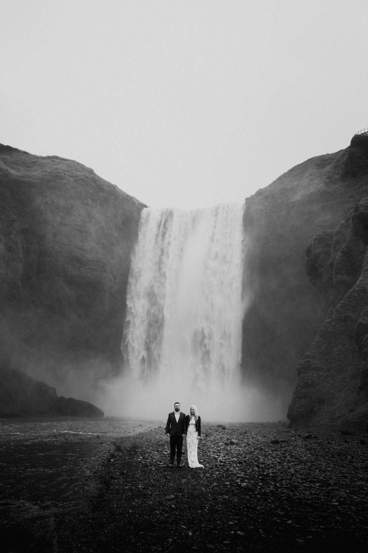 waterfall couple Melbourne Wedding Photographer