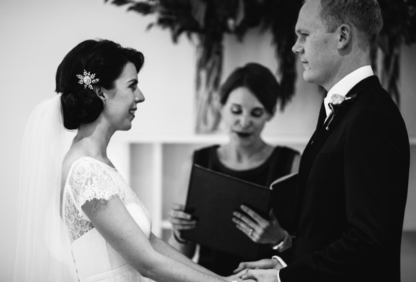 black and white Melbourne marriage celebrant