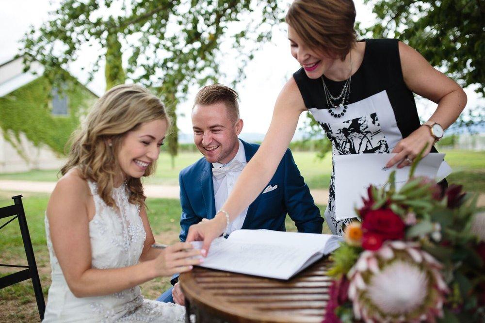 signing melbourne marriage celebrant
