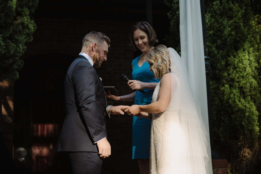 Koren Harvey Melbourne marriage celebrant shadow