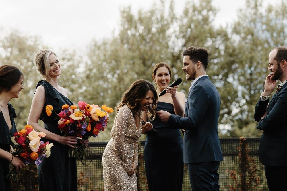 Koren Harvey Melbourne marriage celebrant vintage