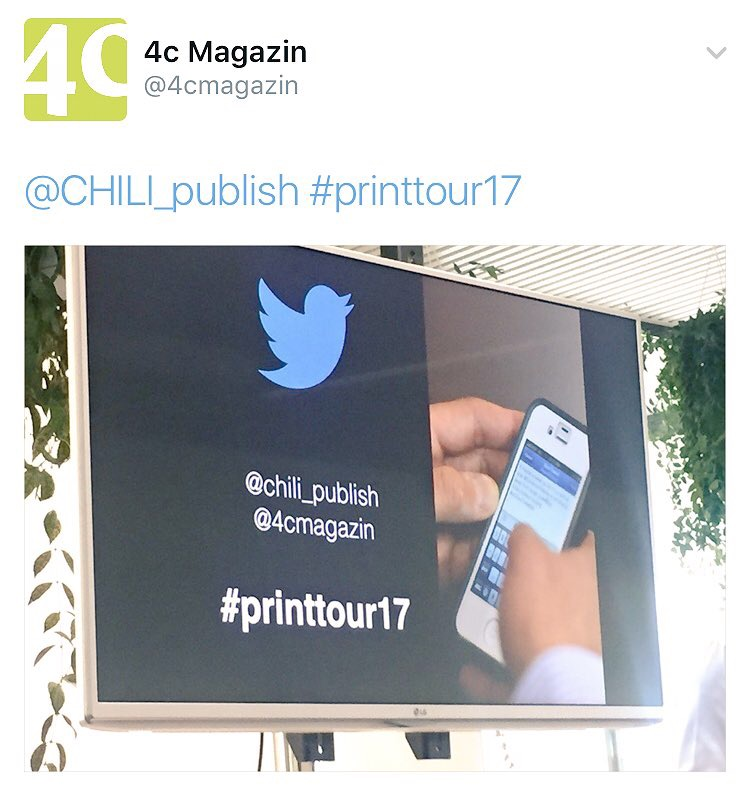 Twitter coverage 4c #printtour17