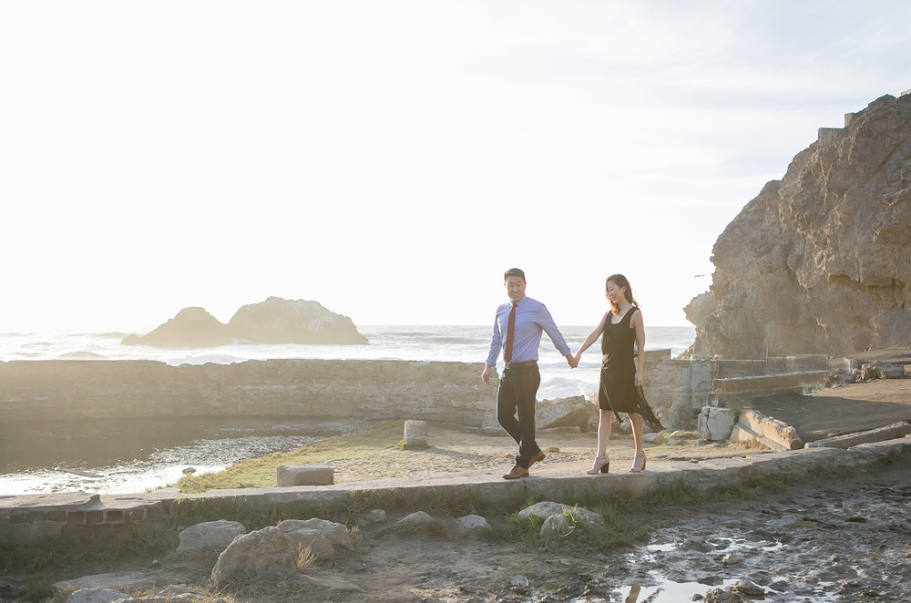 sutro bath Engagement photo