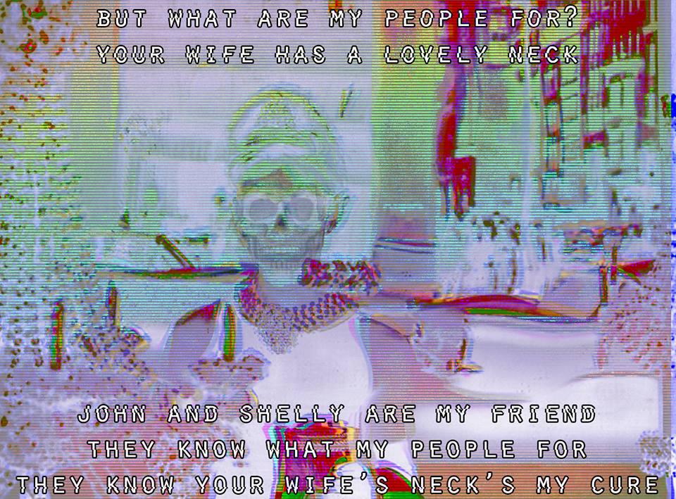 Image macro by Lyse Lasaro, lyrics by Death Grips