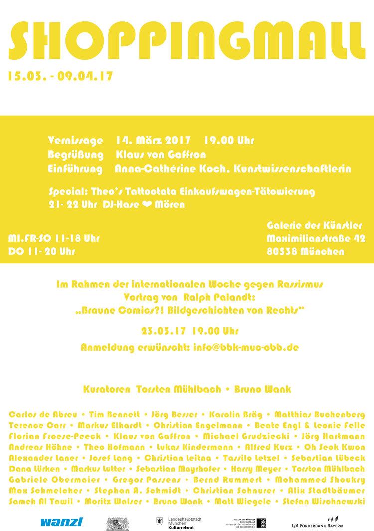 Ausstellungstipp BBK München: Shoppingmall — Halle 6
