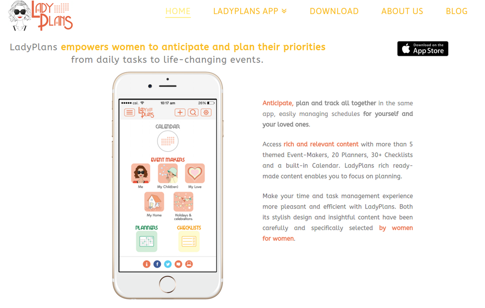 Women organizer app: time and task management for women by women