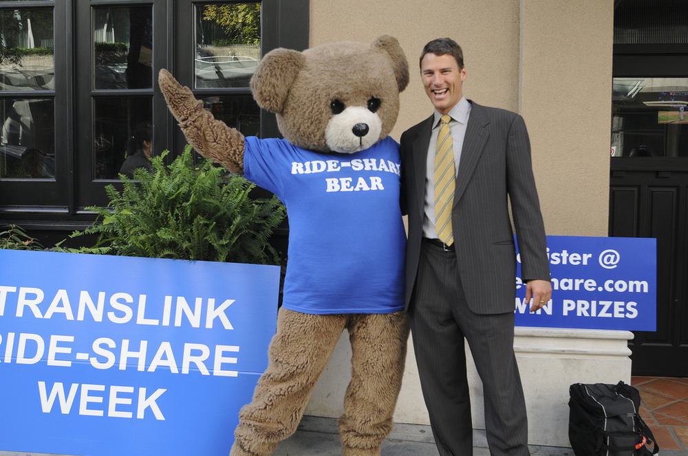 Why not ride-share with a bear (and mayor Robertson, of course)? photo: The Buzzer, Creative Commons