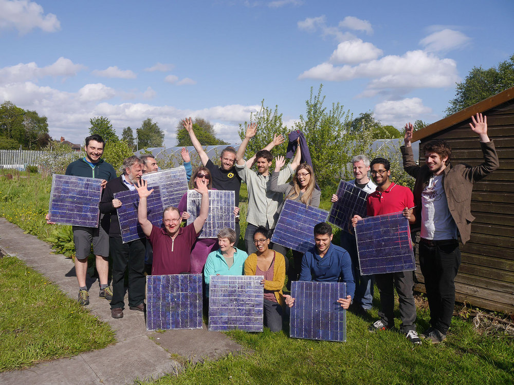 Moss Community Energy at their DIY solar panel workshop.