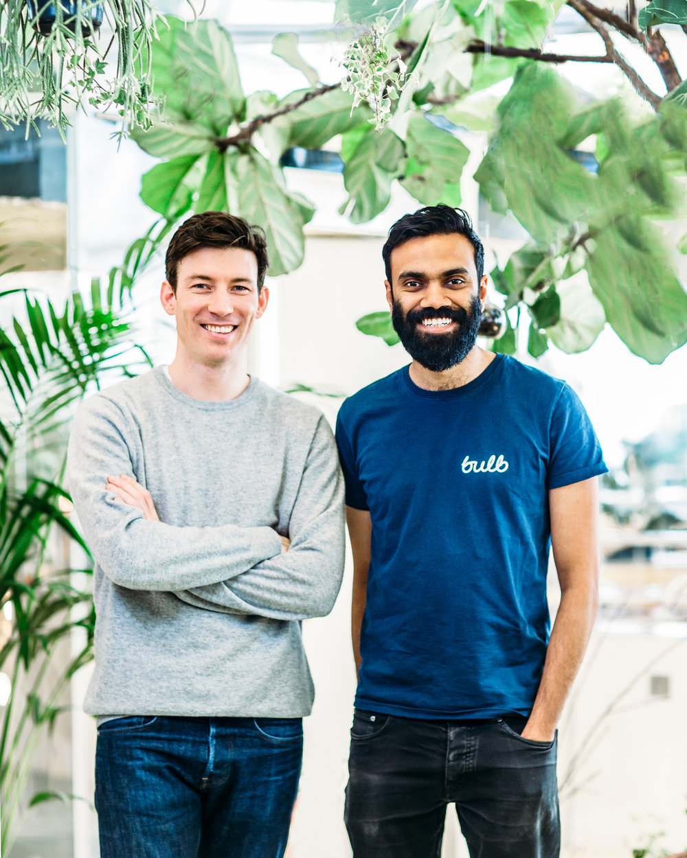 Amit (right) with co-founder Hayden Wood Photo: Bulb