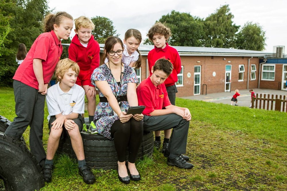 Lymm community energy installed solar on their local schools.