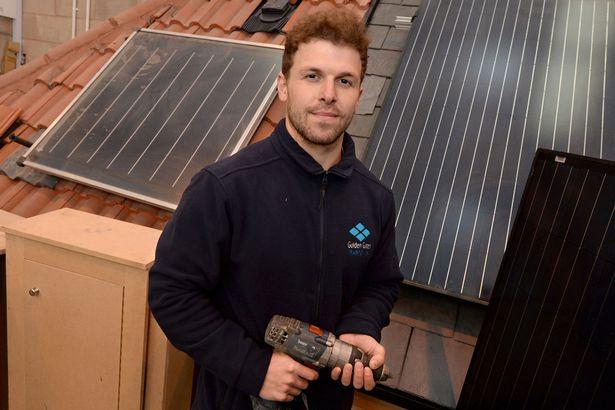 Solar apprentice Anthony Whelan