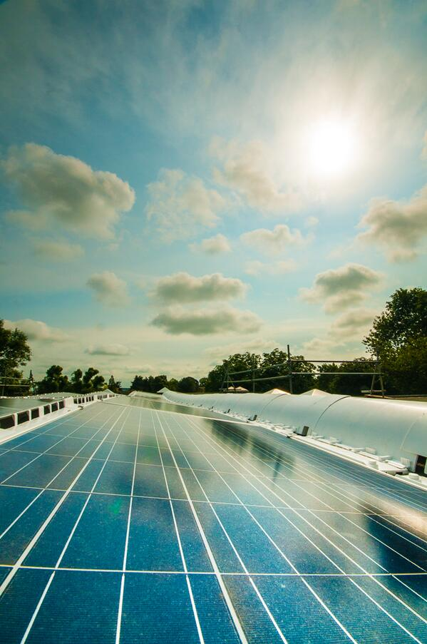 Crossdale primary's solar panels
