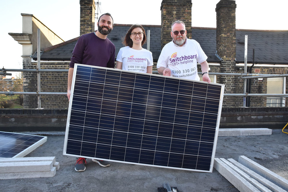 Thanks to our generous supporters, we're installing solar panels on community spaces.