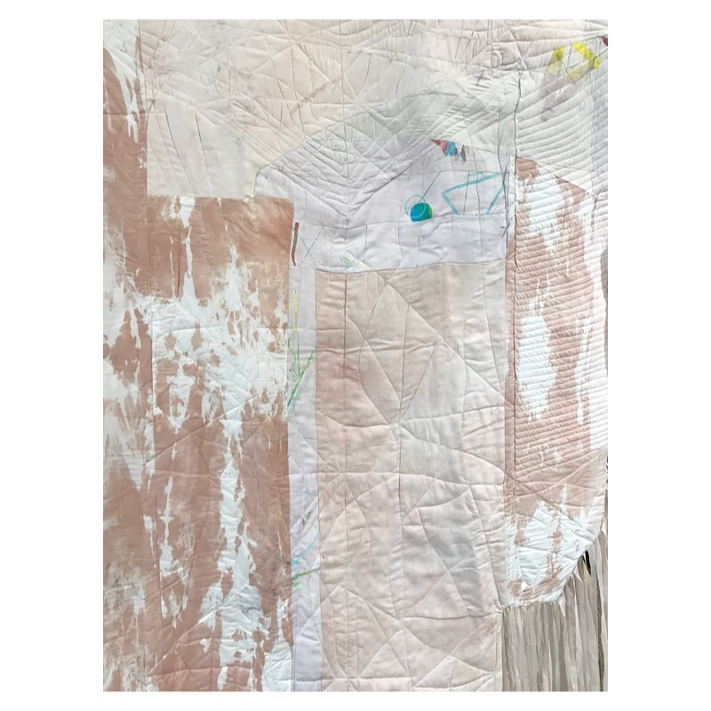 Quilt with naturally dyed fabric  2018