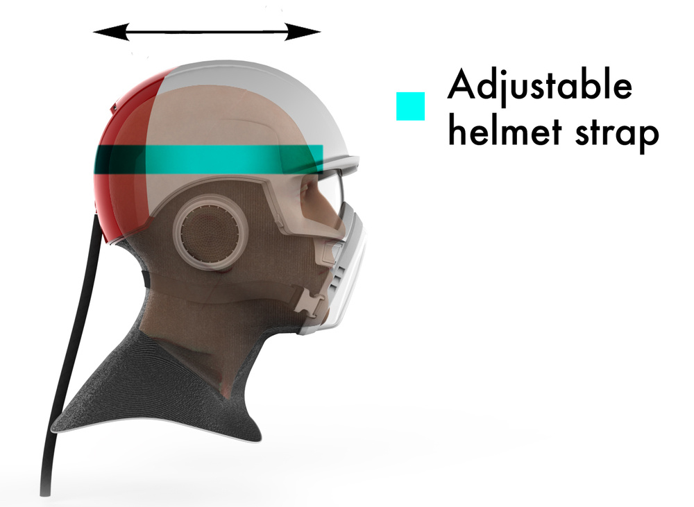 Tighten the helmet strap once to set the helmet up for your head