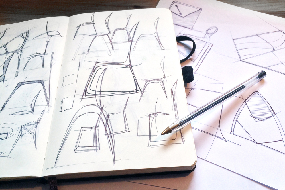 (1) Initial sketches