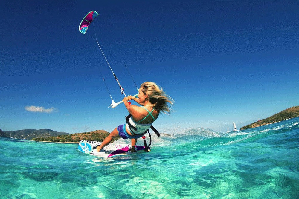 This is kitesurfing - A relatively young but trending action sport
