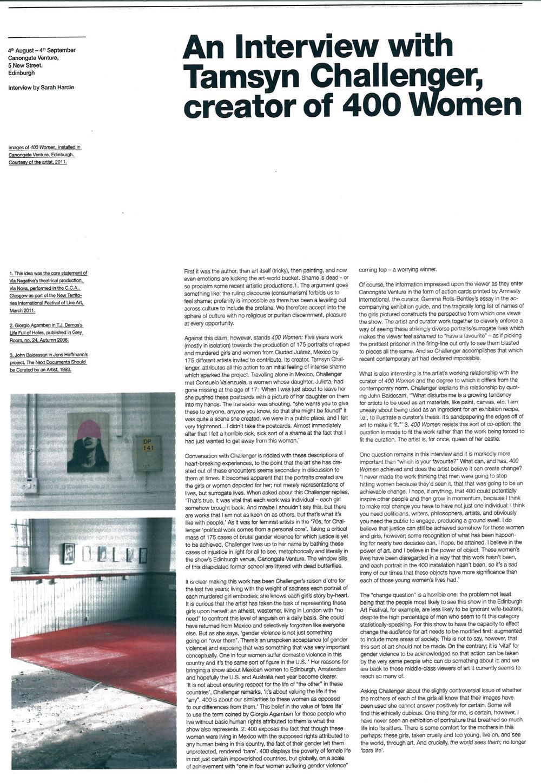 Line Magazine interview 2011